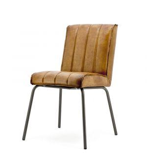 Jídelní židle Marvin - cognac rosi leather