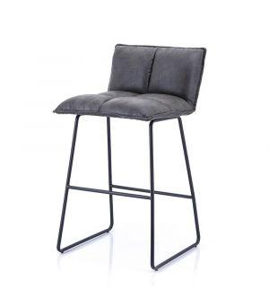 Nízka barová stolička Ruby, Anthracite Topper