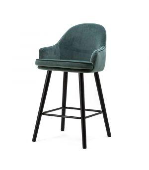 Nízká barová židle Barbara, Blue Motown