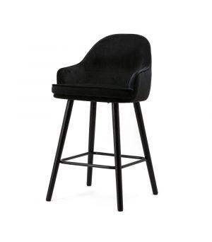 Nízká barová židle Barbara, Black Motown
