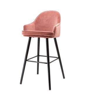 Nízká barová židle Barbara, Pink Motown