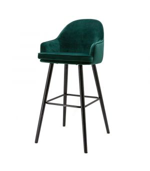 Nízká barová židle Barbara, Green Motown