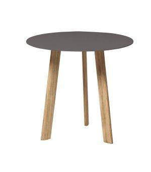 Postranní stolek Ille wengé Ø 50cm