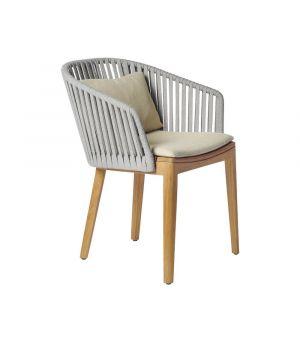 Záhradná stolička Mood, Stone Grey